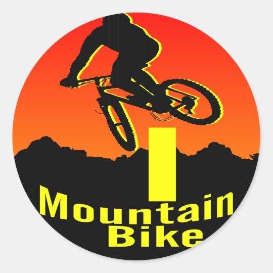 I Mountain Bike Classic Round Sticker