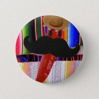 I Moustache...It's Rather Chilli ! Pinback Button