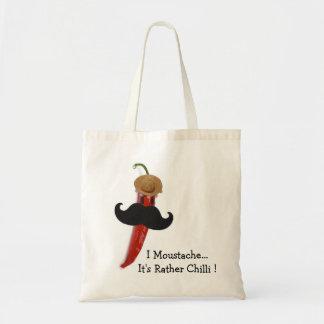 I Moustache.. It's Rather Chilli Tote Bag