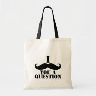 I Moustache You A Question Budget Tote Bag