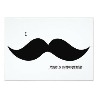 I Moustache You A Question - Invitation