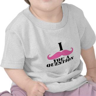 I Moustache You A Question Pink Moustache T-shirt