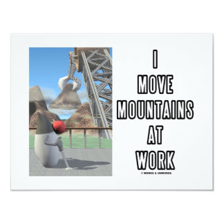 I Move Mountains At Work (Birthday Party) 4.25x5.5 Paper Invitation Card