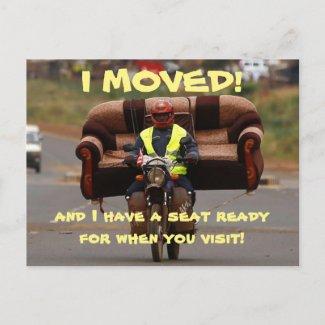 I Moved Change Of Address Postcard