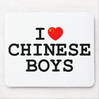 I muchachos del chino del corazón tapete de ratón