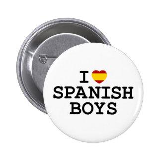 I muchachos del español del corazón pin redondo de 2 pulgadas