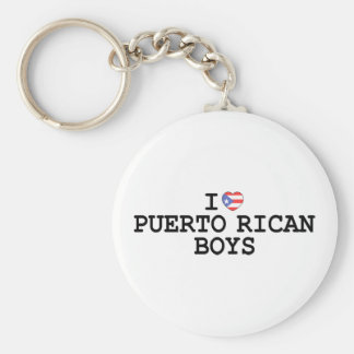 I muchachos del puertorriqueño del corazón llaveros personalizados