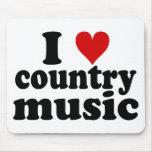 I música country del corazón alfombrillas de ratón