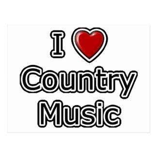I música country del corazón postales