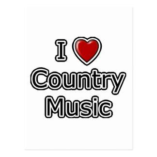 I música country del corazón tarjeta postal