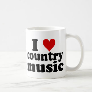 I música country del corazón taza