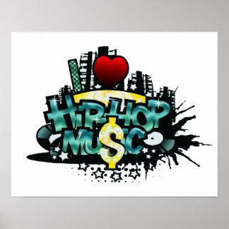 I música de Hip Hop del corazón Póster