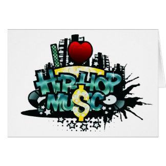 I música de Hip Hop del corazón Tarjeta De Felicitación