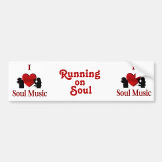 I música del alma del corazón etiqueta de parachoque