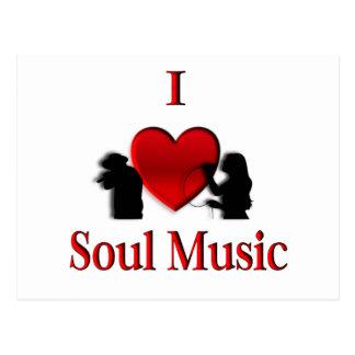 I música del alma del corazón tarjeta postal