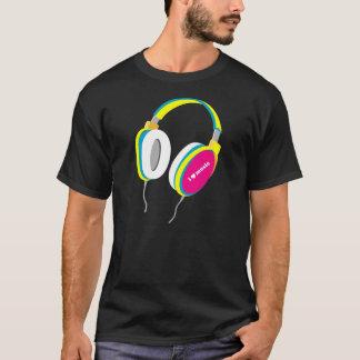 I música del corazón - camiseta de los auriculares