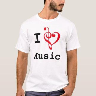 I música del corazón (estilo original) playera