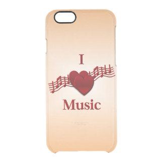 I música del corazón funda clear para iPhone 6/6S