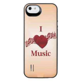 I música del corazón funda con bateía para iPhone SE/5/5s