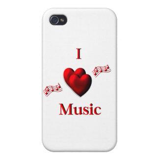 I música del corazón iPhone 4 carcasa