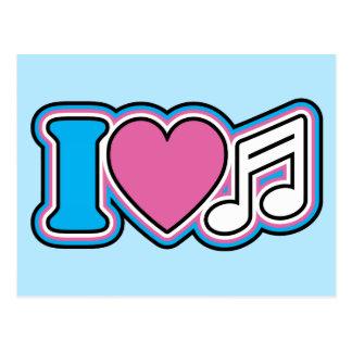 I música del corazón postales
