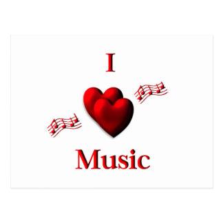 I música del corazón tarjetas postales