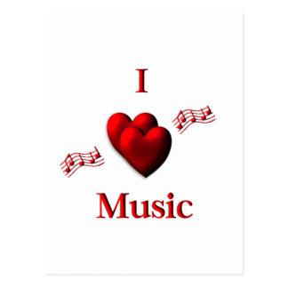 I música del corazón tarjeta postal