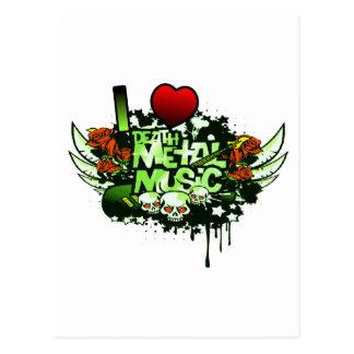 I música del metal de la muerte de corazón tarjetas postales