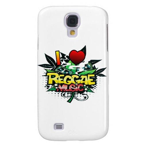 I música del reggae del corazón funda para galaxy s4