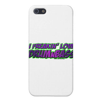 I música del TAMBOR y del BAJO del amor de Freakin iPhone 5 Coberturas