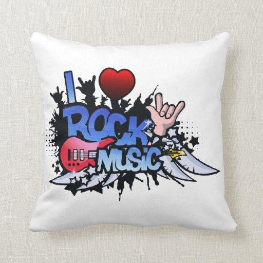 I música rock del corazón cojines