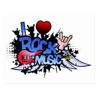 I música rock del corazón postales
