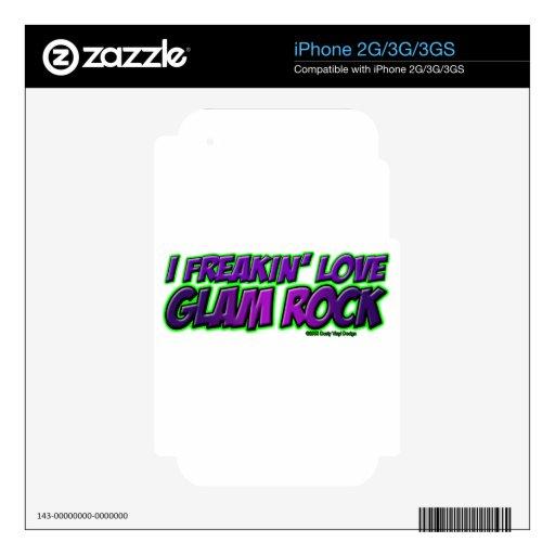 I música rock del ENCANTO del amor de Freakin Calcomanías Para El iPhone 3GS