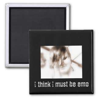 I must be emo 2 inch square magnet