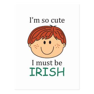I Must Be Irish Postcard
