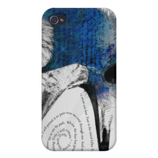 I Must Not Fear - Blue iPhone 4 Case
