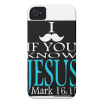 I Mustache if You Know Jesus iPhone 4 Cases