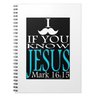 I Mustache if You Know Jesus Spiral Notebook
