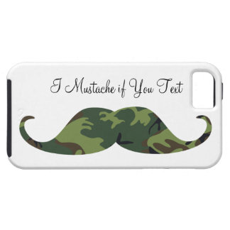 I Mustache if You Text Green Camo iPhone 5 Case