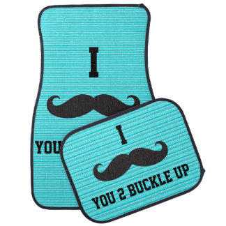 I Mustache You 2 Buckle Up Car Mats