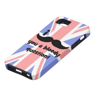 I mustache you a bloody question iPhone 5 cover