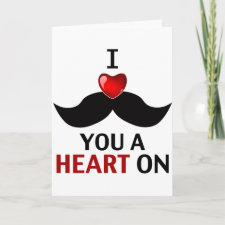 I Mustache You a Heart On Cards