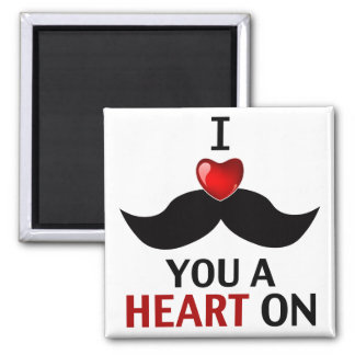 I Mustache You a Heart On Fridge Magnets