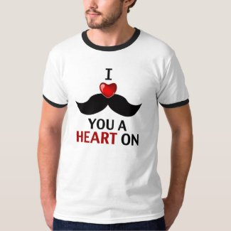 I Mustache You a Heart On T-Shirt