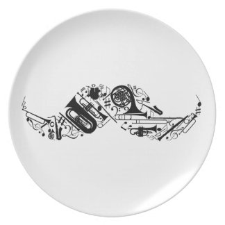 I Mustache You A Musical Question Melamine Plate
