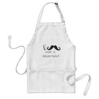 I mustache you a question! adult apron