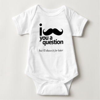 I Mustache You a Question Baby Bodysuit
