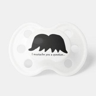 I Mustache You a Question...-Baby Fun Pacifier