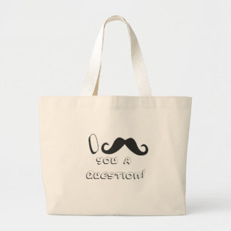 I mustache you a question! tote bags