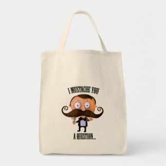 I Mustache You A Question... Bag